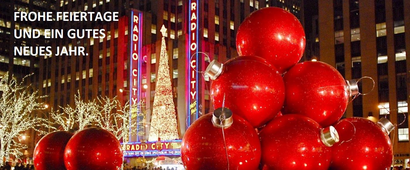 Frohe Feiertage und ein gutes neues Jahr